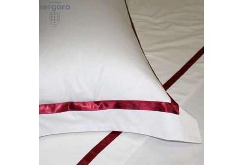 Copripiumino Sergara 600 filo cotone egiziano   Illusion Rosse