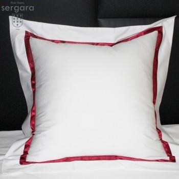 Taie D'Oreiller Carrées Sergara de coton Égyptien 600 fils | Illusion Rouge