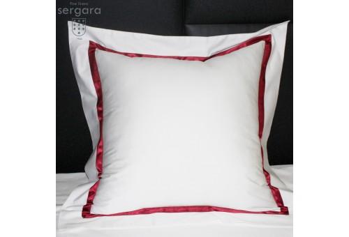 Sergara Quadratische Kissenbezüge 600 Fäden | Rote Illusion