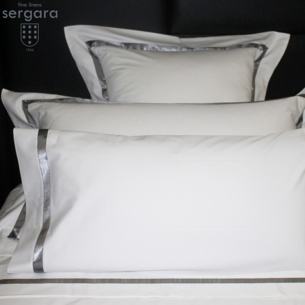 Sergara Sheet Set 600 Thread Egyptian Cotton Sateen | Gray Illusion