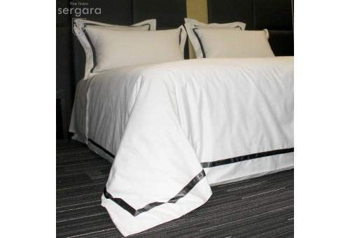 Sergara Duvet Cover 600 Thread Egyptian Cotton Sateen   Gray Illusion