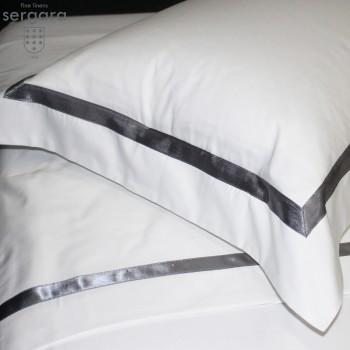 Sergara Kissenbezüge Ägyptische Baumwolle 600 Fäden | Grauer Illusion
