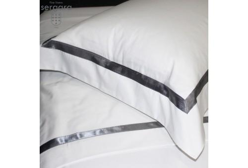 Sergara Sham 600 Thread Egyptian Cotton Sateen | Gray Illusion
