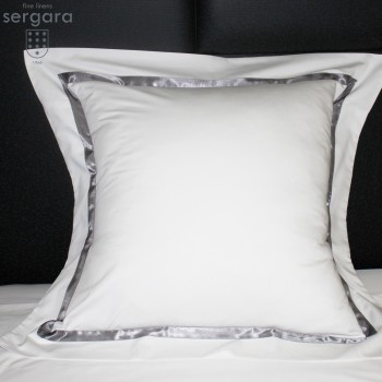 Sergara Quadratische Kissenbezüge 600 Fäden | Grauer Illusion