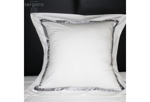 Federe Quadrate Sergara 600 filo cotone egiziano | Illusion Grigie