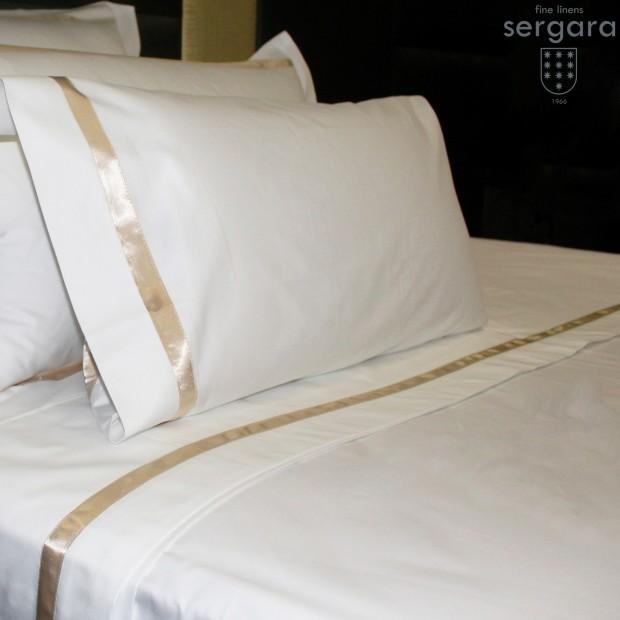 Sergara Sheet Set 600 Thread Egyptian Cotton Sateen   Beig Illusion