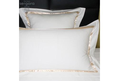 Sergara Duvet Cover 600 Thread Egyptian Cotton Sateen | Beig Illusion