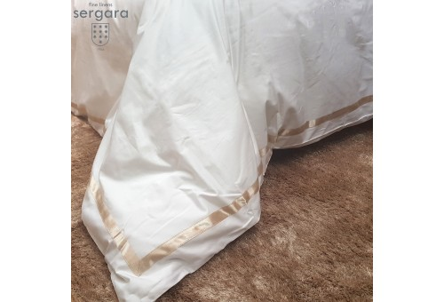 Sergara Duvet Cover 600 Thread Egyptian Cotton Sateen | Beig Illusion