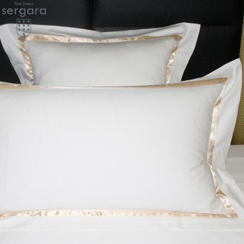 Sergara Sham 600 Thread Egyptian Cotton Sateen | Beig Illusion