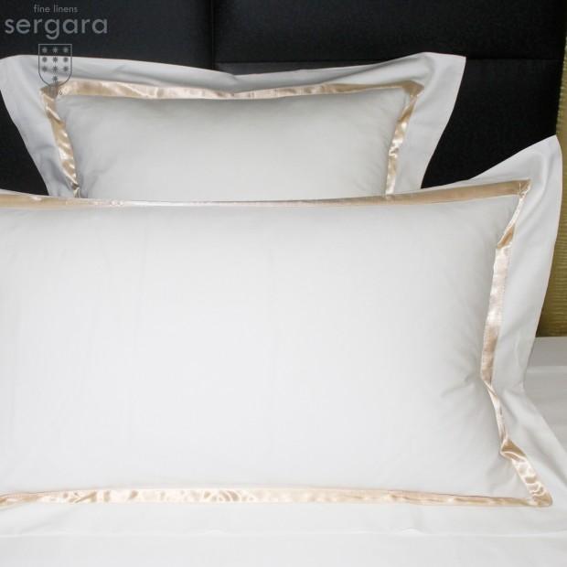 Sergara Sham 600 Thread Egyptian Cotton Sateen | Beig Illusion