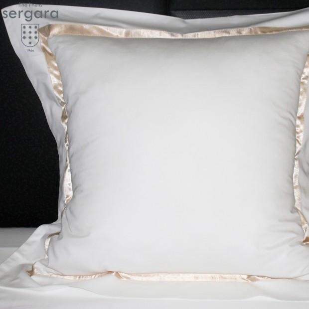 Taie D'Oreiller Carrées Sergara de coton Égyptien 600 fils | Illusion Beig