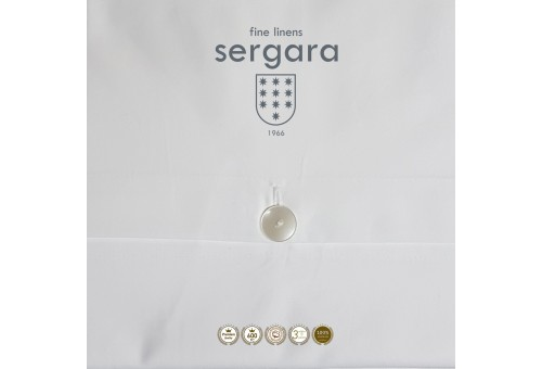 Copripiumino Sergara 600 filo cotone egiziano | Illusion Grigie