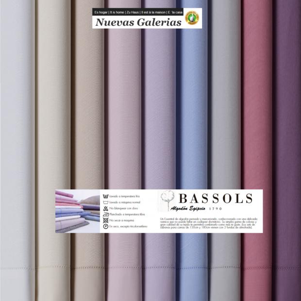 Bassols Completo Lenzuola Venecia | Bassols - 1 Set di lenzuola Venezia di Bassols 100% cotone egiziano 200 fili mercerizzati. 3