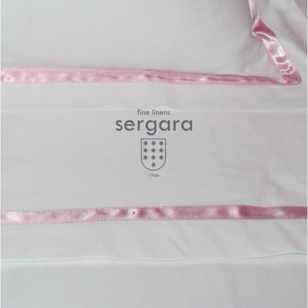 Sergara Baby Sheet Set 600 Thread Egyptian Cotton Sateen | Pink Illusion