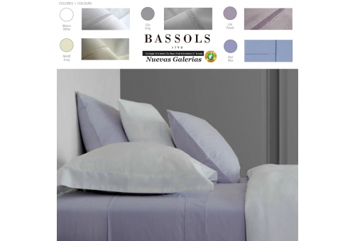 Bassols Sheet Set Paris | Bassols - 1 Sheet Set Paris by Bassols 50% Cotton 50% Polyester 180 threads. 3 pieces, Quality Guarant