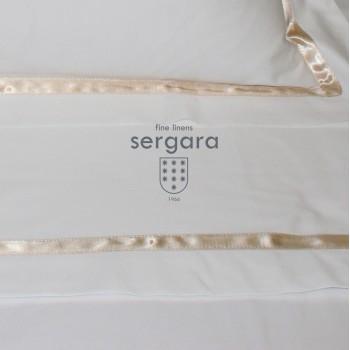 Ensemble de draps bébé Sergara de coton Égyptien 600 fils | Illusion Beig