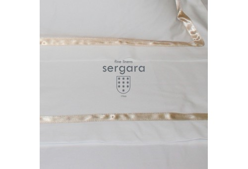 Sergara Baby Sheet Set 600 Thread Egyptian Cotton Sateen | Beig Illusion