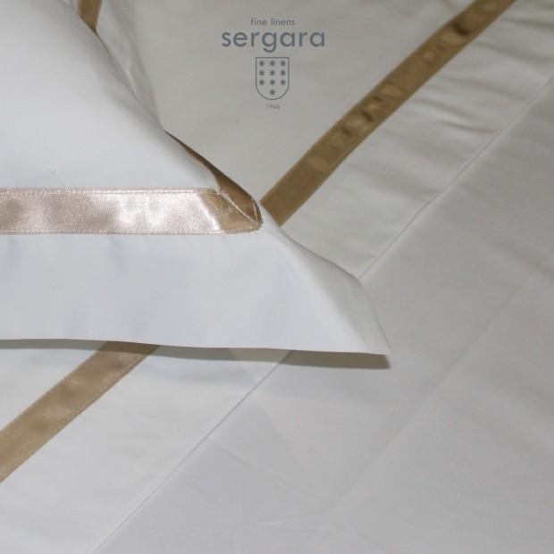 Copripiumino Culla Sergara 600 filo cotone egiziano | Illusion Beig