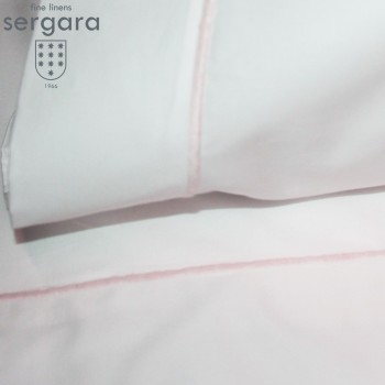 Sergara Baby Sheet Set 600 Thread Egyptian Cotton Sateen | Pink Bourdon