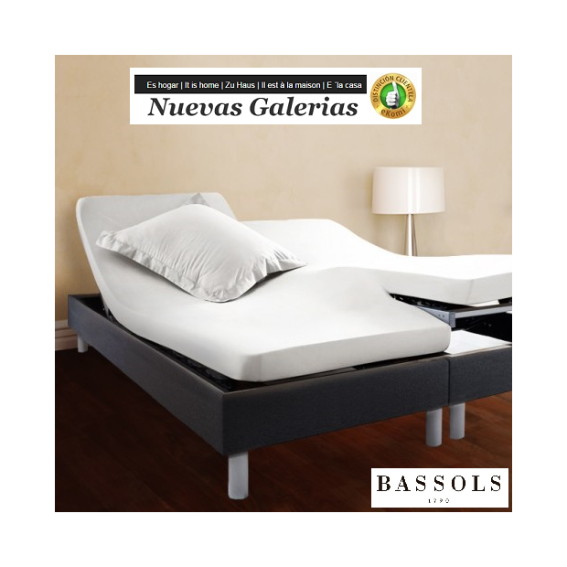Bassols Fitted sheets Articulated H Blanco   Bassols - 1 Fitted sheet Adjustable Articulated Type H White Bassols 100% Egyptian