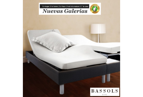 Bassols lenzuolo da sotto Articulada H Blanco | Bassols - 1 Lenzuolo coprivolante regolabile con snodo tipo H Bassols bianchi 10