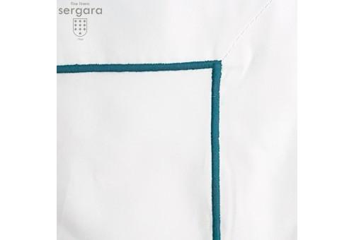 Completo Lenzuola Culla Sergara 600 filo cotone egiziano |Bourdon Blu chiaro
