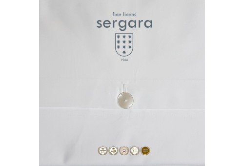 Sergara Baby-Bettwäsche Ägyptische Baumwolle 600 Fäden | Bourdon Hellblau