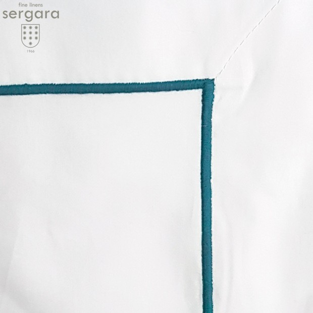 Copripiumino Culla Sergara 600 filo cotone egiziano   Bourdon Blu chiaro