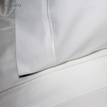 Completo Lenzuola Culla Sergara 600 filo cotone egiziano |Bourdon Bianco