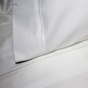 Sergara Baby Sheet Set 600 Thread Egyptian Cotton Sateen | White Bourdon