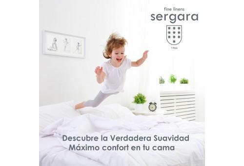 Sergara Baby-Bettwäsche Ägyptische Baumwolle 600 Fäden | Bourdon weiß