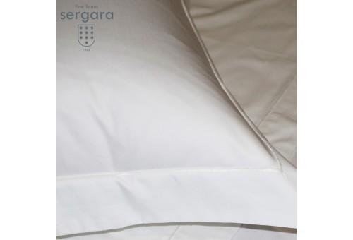 Copripiumino Culla Sergara 600 filo cotone egiziano   Bourdon Bianco
