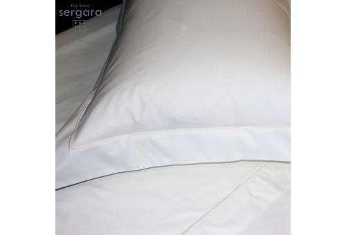 Sergara Baby Duvet Cover 600 Thread Egyptian Cotton Sateen | Beig Bourdon