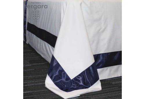 Sergara Bettwäsche Ägyptische Baumwolle 600 Fäden | Blaue Bicolor