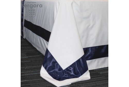 Sergara Duvet Cover 600 Thread Egyptian Cotton Sateen | Blue Bicolor