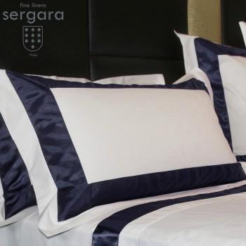 Sergara Kissenbezüge Ägyptische Baumwolle 600 Fäden | Blaue Bicolor