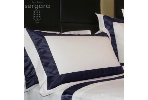 Federe Sergara 600 filo cotone egiziano | Bicolor Blu