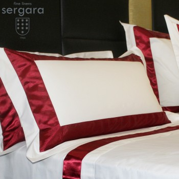 Sergara Sheet Set 600 Thread Egyptian Cotton Sateen | Red Bicolor