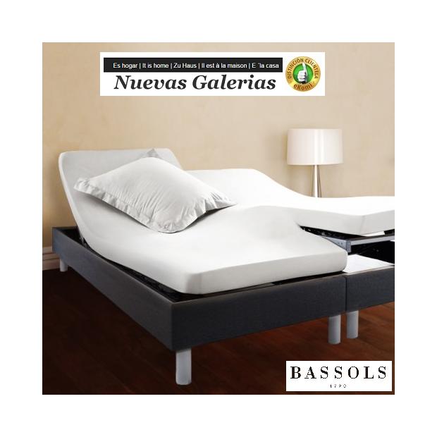 Bassols Sabanas Bajeras Articulada H Blanco | Bassols - 1 Sábana Bajera Ajustable Articulada Tipo HBlanco de Bassols 100% Algod