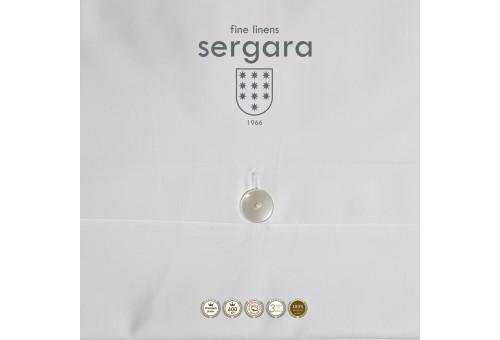 Sergara Duvet Cover 600 Thread Egyptian Cotton Sateen   Red Bicolor