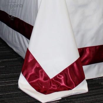 Housse de Couette Sergara de coton Égyptien 600 fils | Bicolor Rouge
