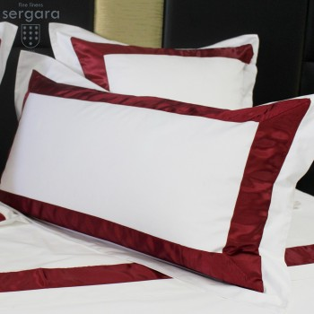 Sergara Sham 600 Thread Egyptian Cotton Sateen | Red Bicolor