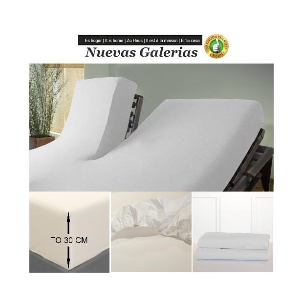 Bassols Fitted sheets Articulated Type V White   Bassols - 1 Fitted sheet Adjustable Articulated Type V White Bassols 100% Egypt