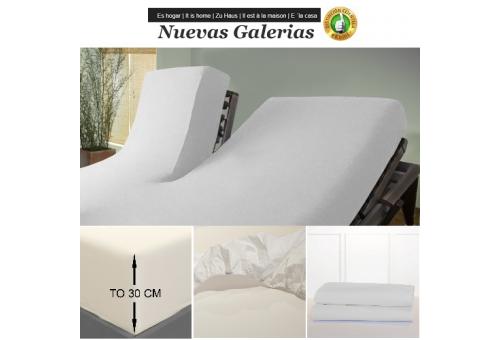 Bassols Spannbettlaken Articulada Tipo V Blanco | Bassols - 1 Spannbettlaken Einstellbar artikuliert Typ V Weiß Bassols 100% äg
