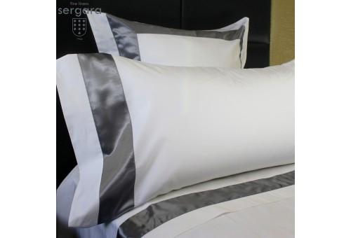 Sergara Sheet Set 600 Thread Egyptian Cotton Sateen | Gray Bicolor