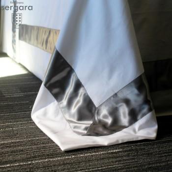 Sergara Duvet Cover 600 Thread Egyptian Cotton Sateen | Gray Bicolor