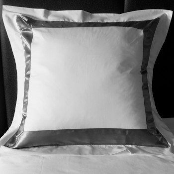 Sergara Euro Sham 600 Thread Egyptian Cotton Sateen | Gray Bicolor