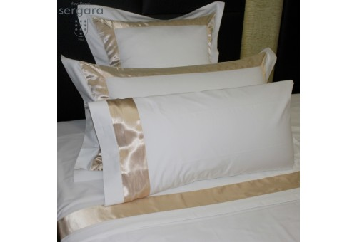 Sergara Sheet Set 600 Thread Egyptian Cotton Sateen | Beig Bicolor