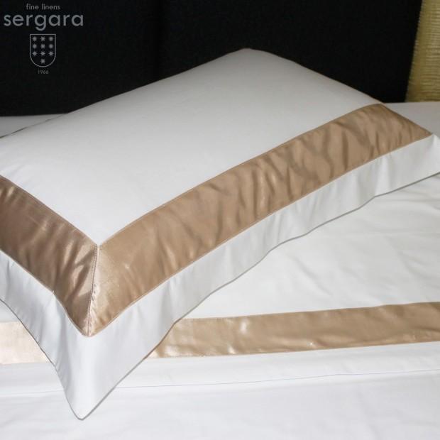 Sergara Kissenbezüge Ägyptische Baumwolle 600 Fäden | Beig Bicolor