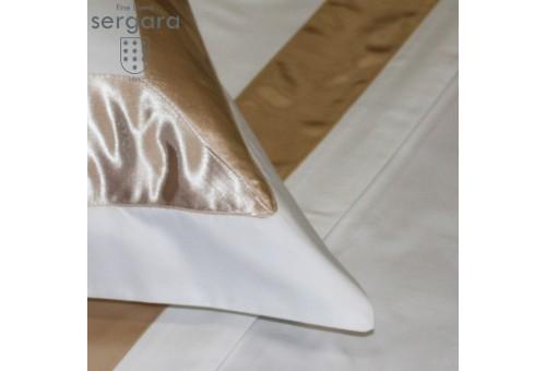 Sergara Quadratische Kissenbezüge 600 Fäden | Beig Bicolor